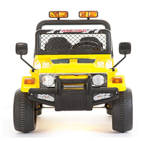 Masinuta electrica cu doua locuri si roti din plastic Drifter Jeep 4x4 Galben - 2