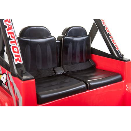 Masinuta electrica cu doua locuri si roti din plastic Drifter Jeep 4x4 Rosu - 2