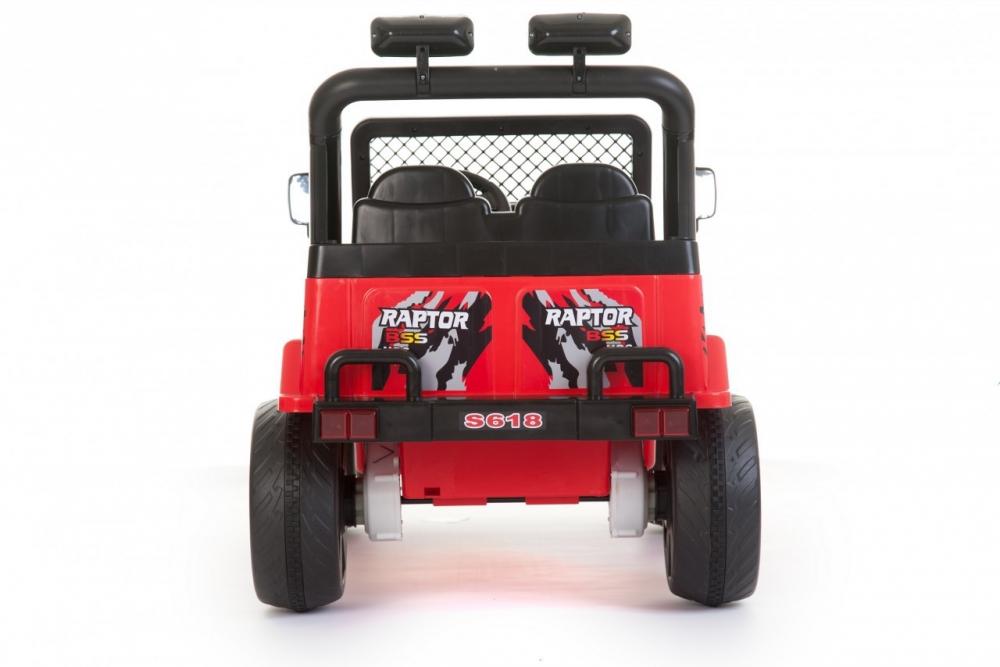 Masinuta electrica cu doua locuri si roti din plastic Drifter Jeep 4x4 Rosu - 5