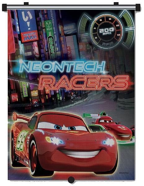 Parasolar retractabil Cars Neon