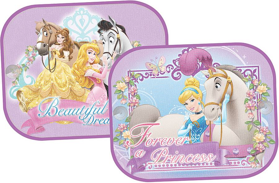 Set 2 parasolare cu ventuze Disney Princess