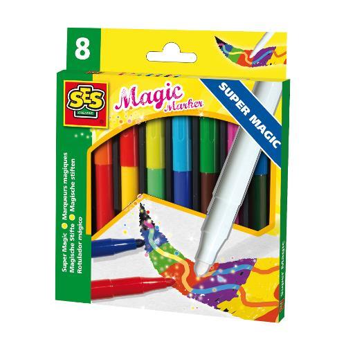 Set Markere 8 Culori Super Magic