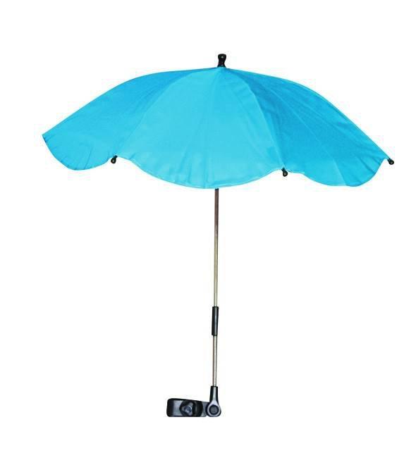 Umbrela anti-UV pentru carucior culoarea Sky