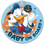 Semn de avertizare Baby on Board Donald Duck Disney Eurasia 25030