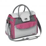 Geanta pentru mamici Style BabyOno roz/gri