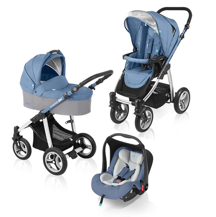 Carucior multifunctional 3 in 1 Baby Design Lupo Blue