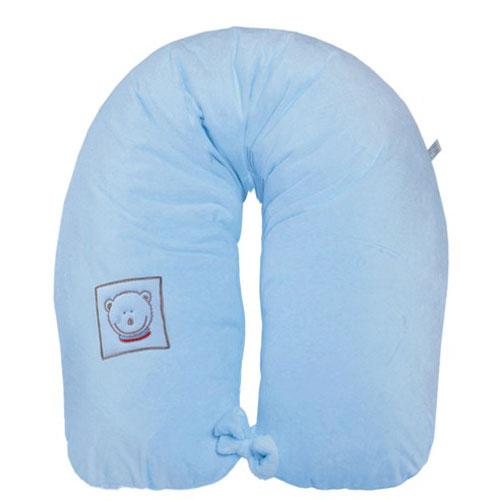 Husa blanita pentru perna gravida Colectia Mis Mat Bleu 165cm