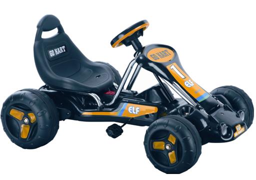 Kart cu pedale 9788A Negru