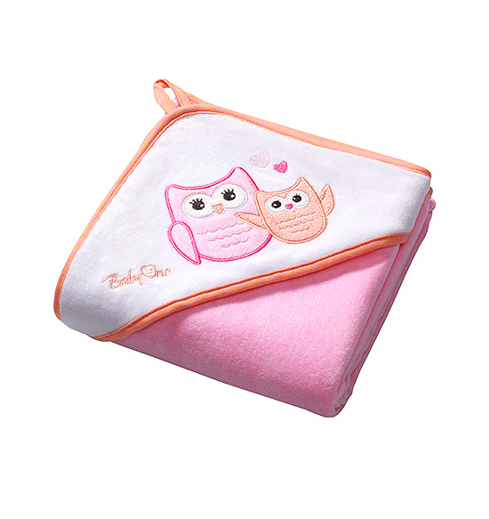 Prosop de baie cu gluga 100x100 cm Hooded Towel Pink
