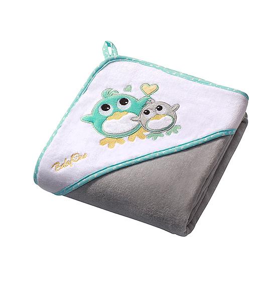 Prosop de baie cu gluga 76x76 cm Hooded Towel Grey - Nichiduta.ro
