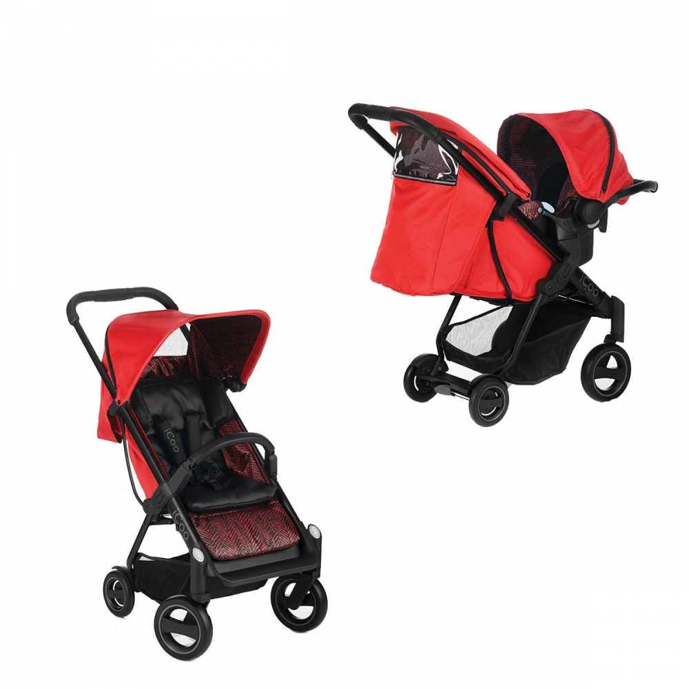 Set Carucior Acrobat Shopn Drive Fishbone Red Icoo