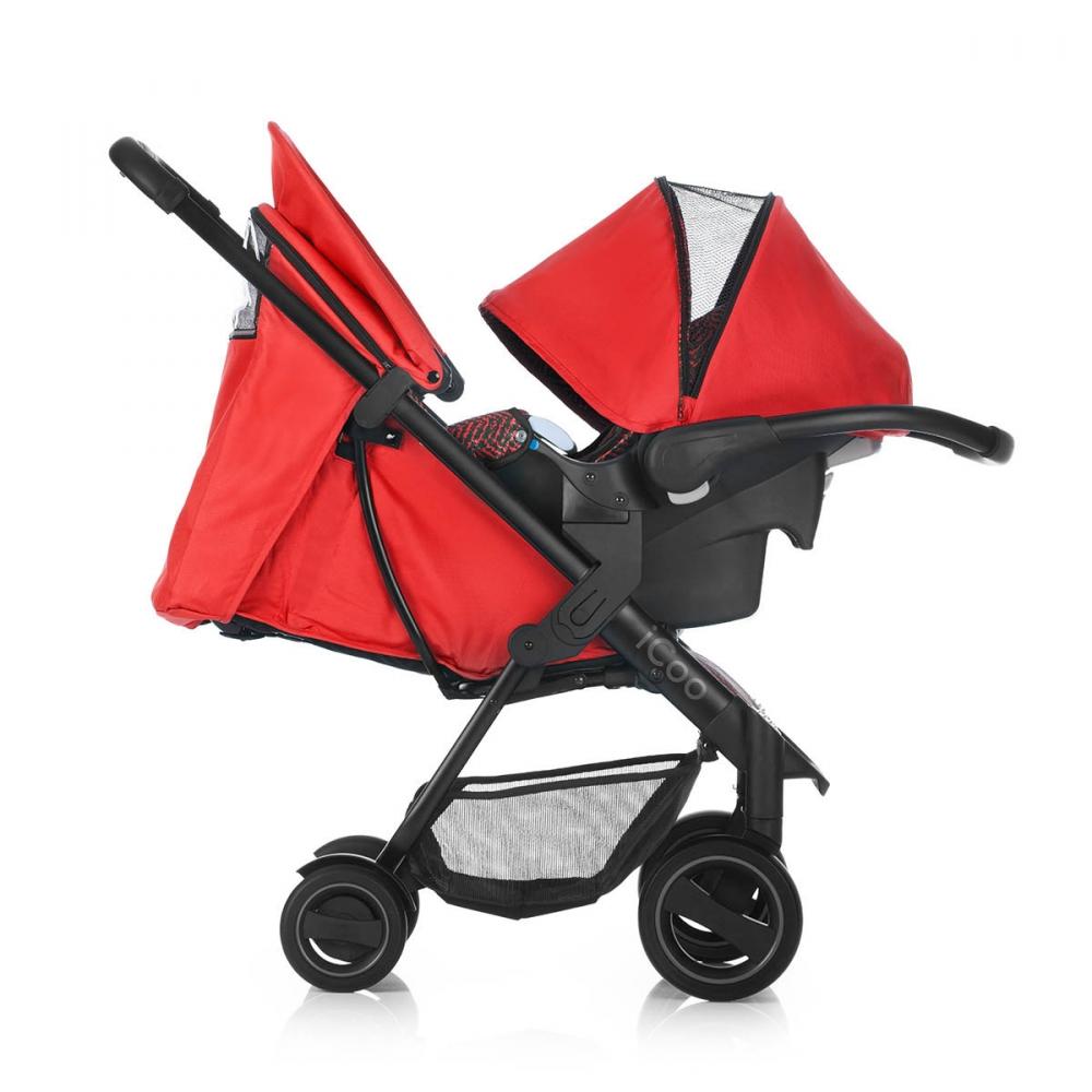 Set Carucior Acrobat Shopn Drive Fishbone Red Icoo - 7