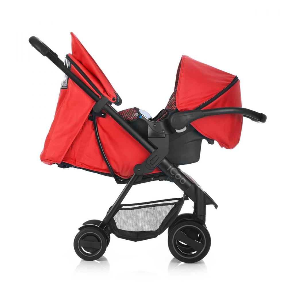 Set Carucior Acrobat Shopn Drive Fishbone Red Icoo - 8
