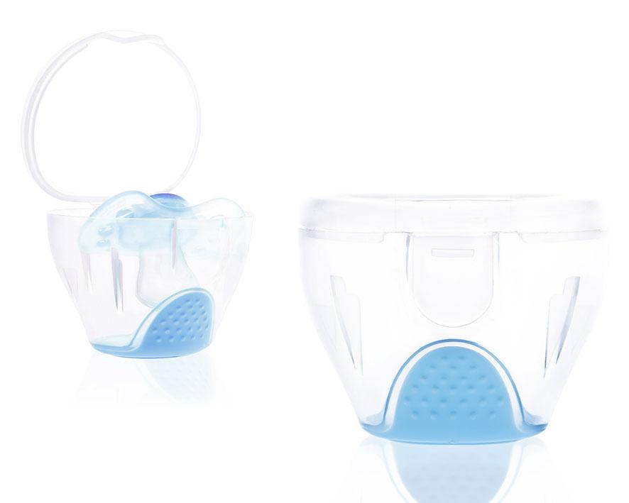 Sterilizator si cutie protectie suzeta, albastra