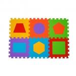 Puzzle Figuri geometrice - covoras din spuma 6 buc