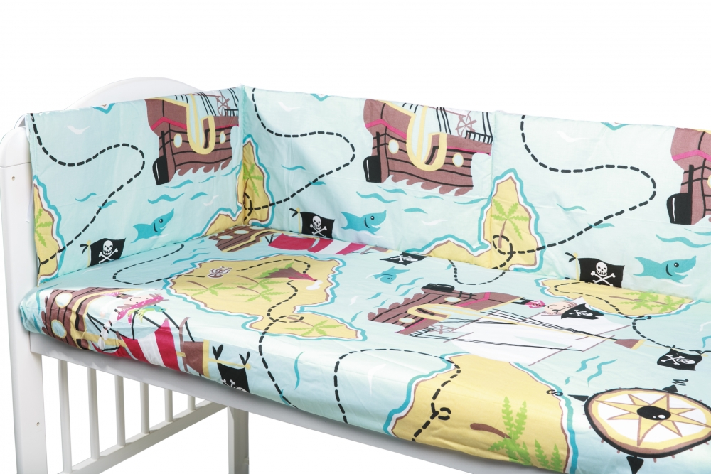 Aparatori laterale pentru pat Micul Pirat