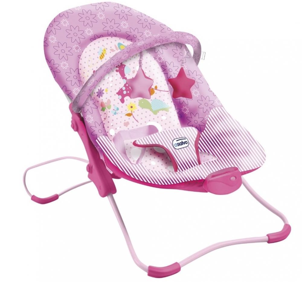 Balansoar muzical cu vibratii Baby Bouncer Pink