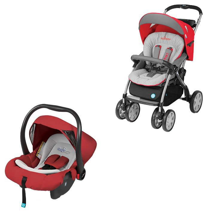 Carucior 2 in 1 Baby Design Sprint Travel System Red