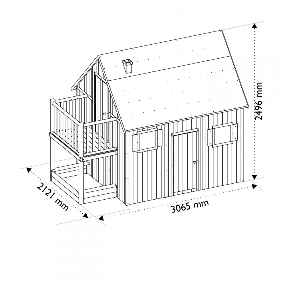 Casuta din lemn cu etaj Duplex