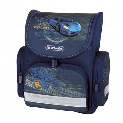 Ghiozdan neechipat Mini Blue Racer Ergonomic Herlitz