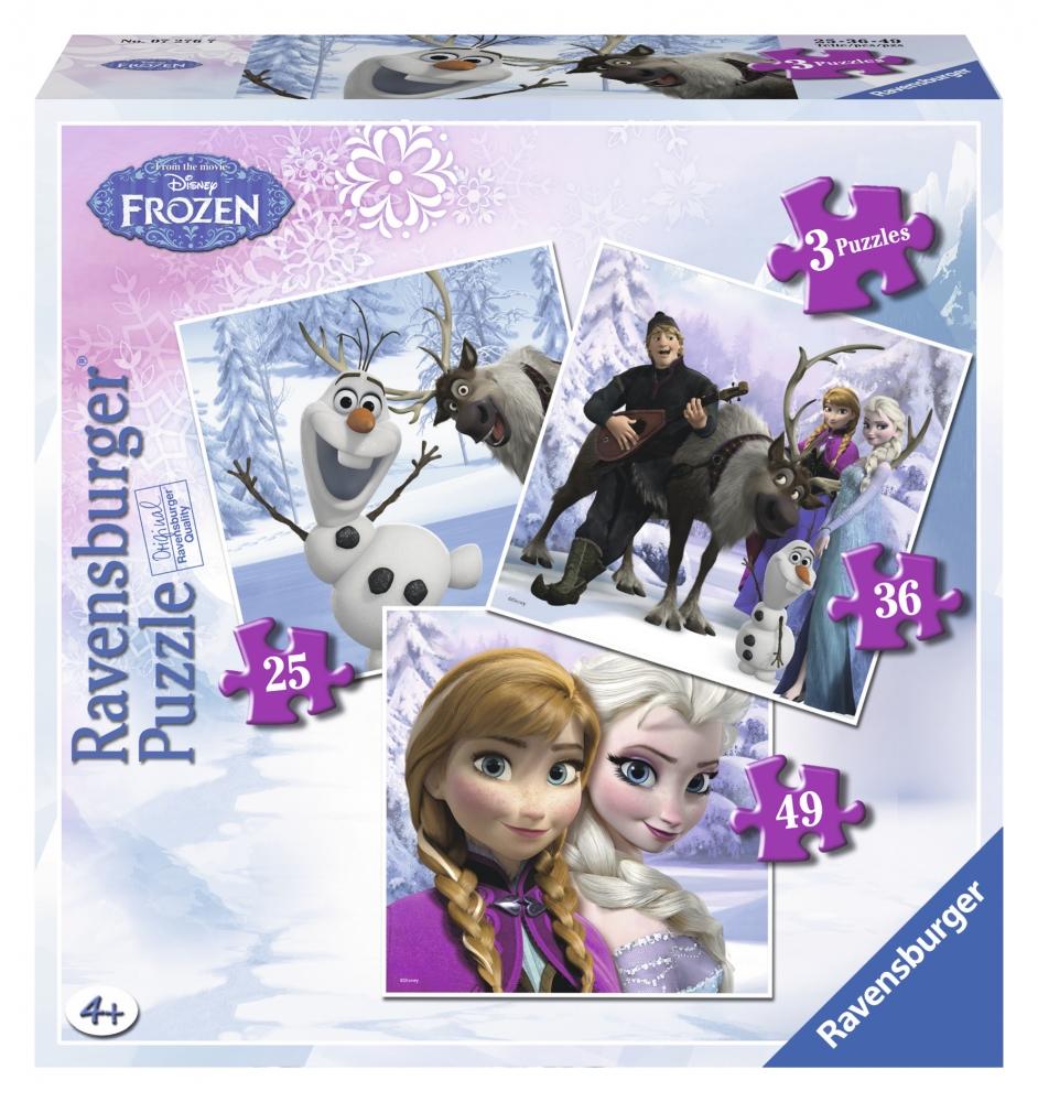 Puzzle Frozen Anna, Elsa si  prietenii, 253649p