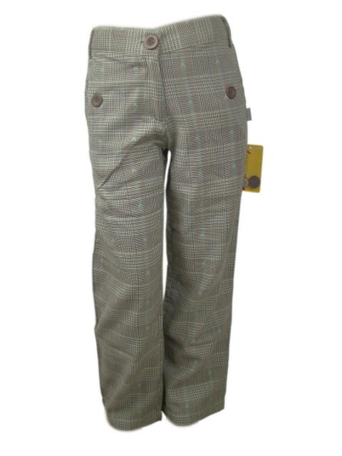 Pantaloni lungi fete material bumbac, au elastic reglabil in talie (MASURA 116 (5-6 ani))