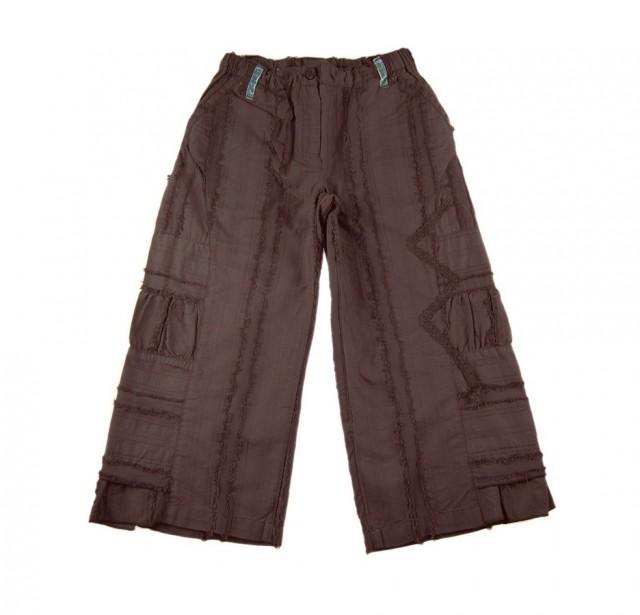 Pantaloni trei sferturi fete, maro, 2-10 ani (MASURA 140 (9-10 ani))