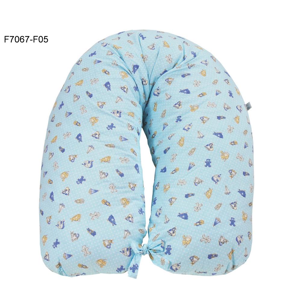 Perna gravida husa bumbac bleu 165cm