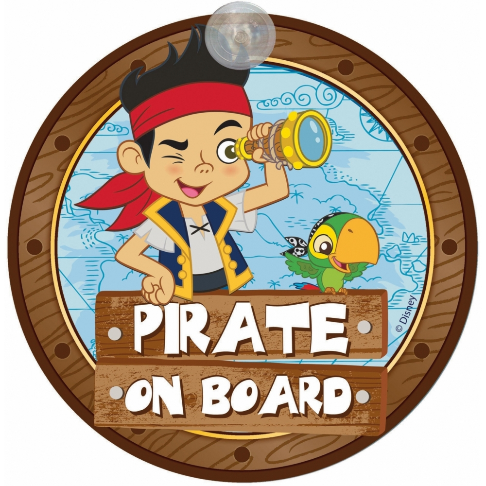 Semn de avertizare Pirate on Board Jake Disney Eurasia