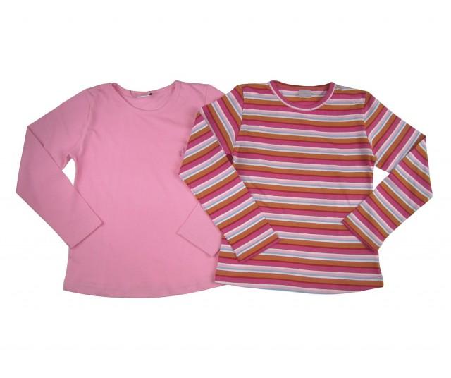 Set 2 bluze fetite Steps material bumbac (Masura 92 (1.5-2 ani))