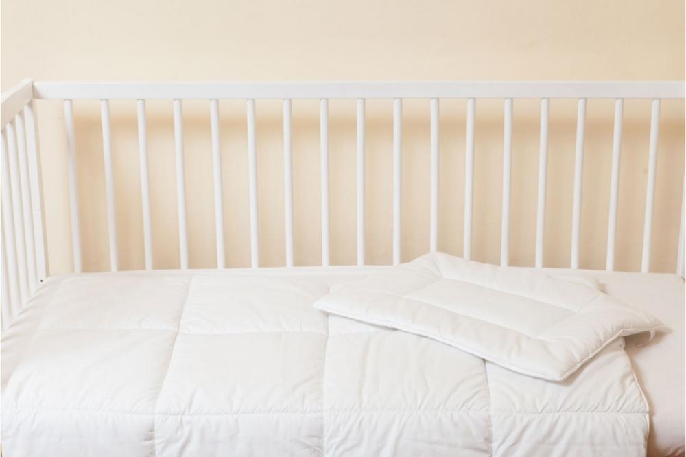 Set alb pentru patut 60 x 120 cm (pentru toamna iarna)