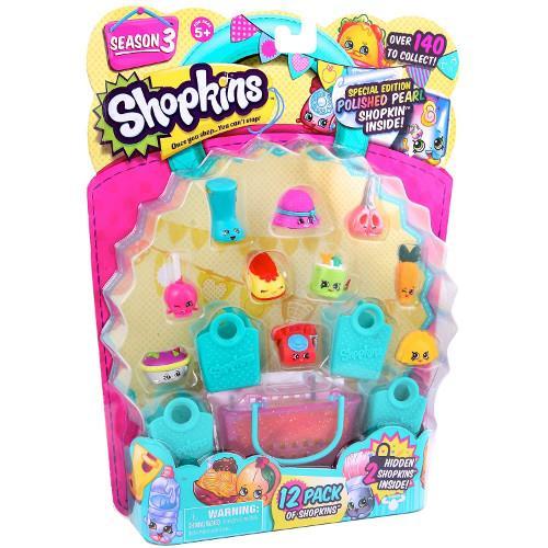 Shopkins Seria 3 - 12 Figurine cu Accesorii