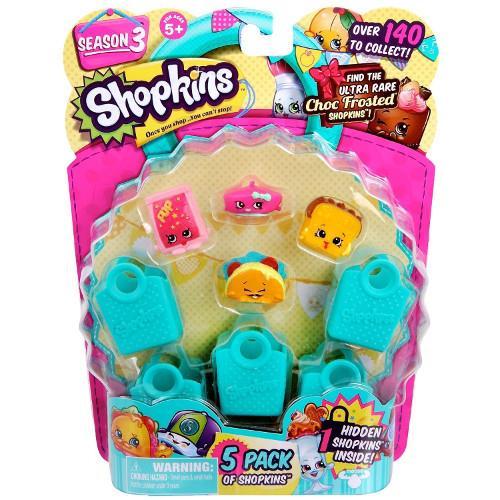 Shopkins Seria 3 - 5 Figurine cu Accesorii