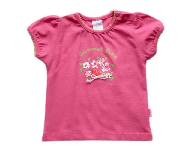 Tricou bumbac fetite bebe (MASURA 80( 9-12 luni ))
