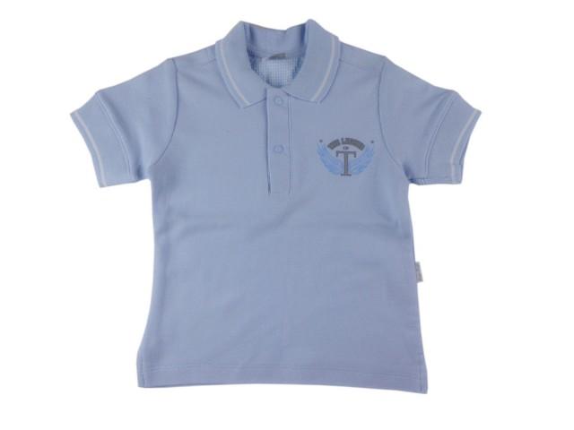 Tricou cu guler polo bebe (MASURA 62 (1-3 luni))