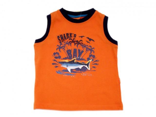 Tricou fara maneci baieti imprimeu rechin (MASURA 128 (7-8 ani))