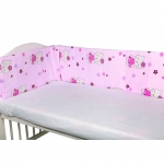 Aparatori laterale pentru pat Kitty Pink