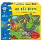 Puzzle gigant de podea Orchard Toys Ferma (14 piese)