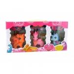 Set de joaca Globo 3 ponei unicorn cu accesorii