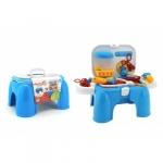Set joaca doctor cu cutie de pastrare tip scaunel sau inaltator si accesorii