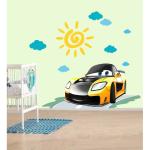 Sticker perete copii Cars galben 80 x 60 cm