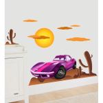 Sticker perete copii Cars violet 110 x 45 cm