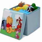 Taburet si cutie depozitare jucarii Disney Winnie the Pooh