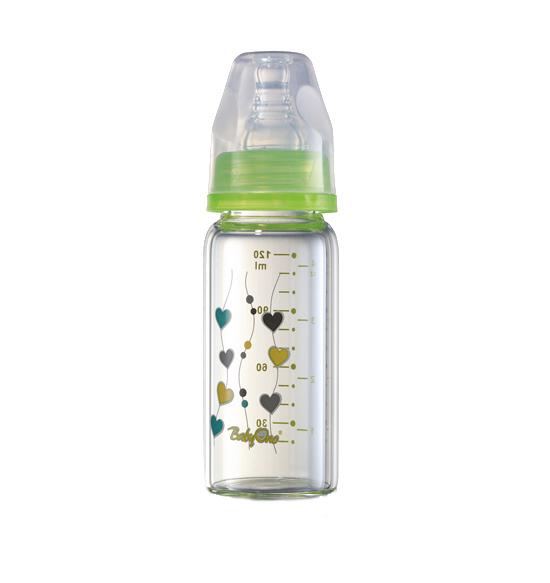Biberon sticla cu gat standard 120 ml Verde