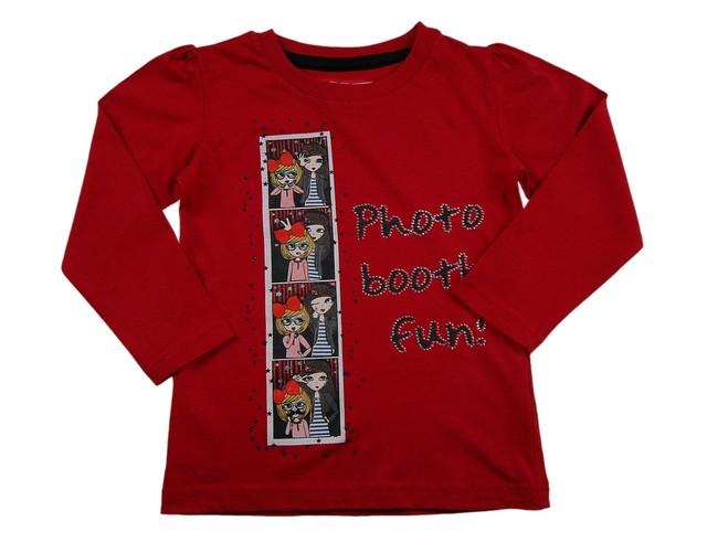 Bluza fetite imprimeu multicolor (Masura 98 (2-3 ani))