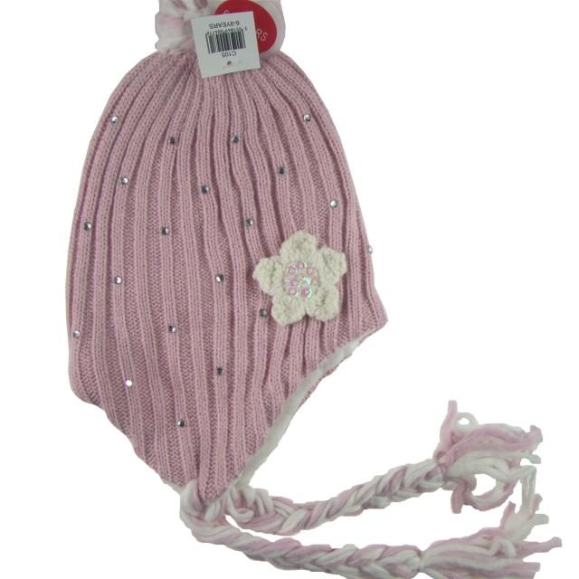 Caciula iarna fetite, roz (Masura 54)