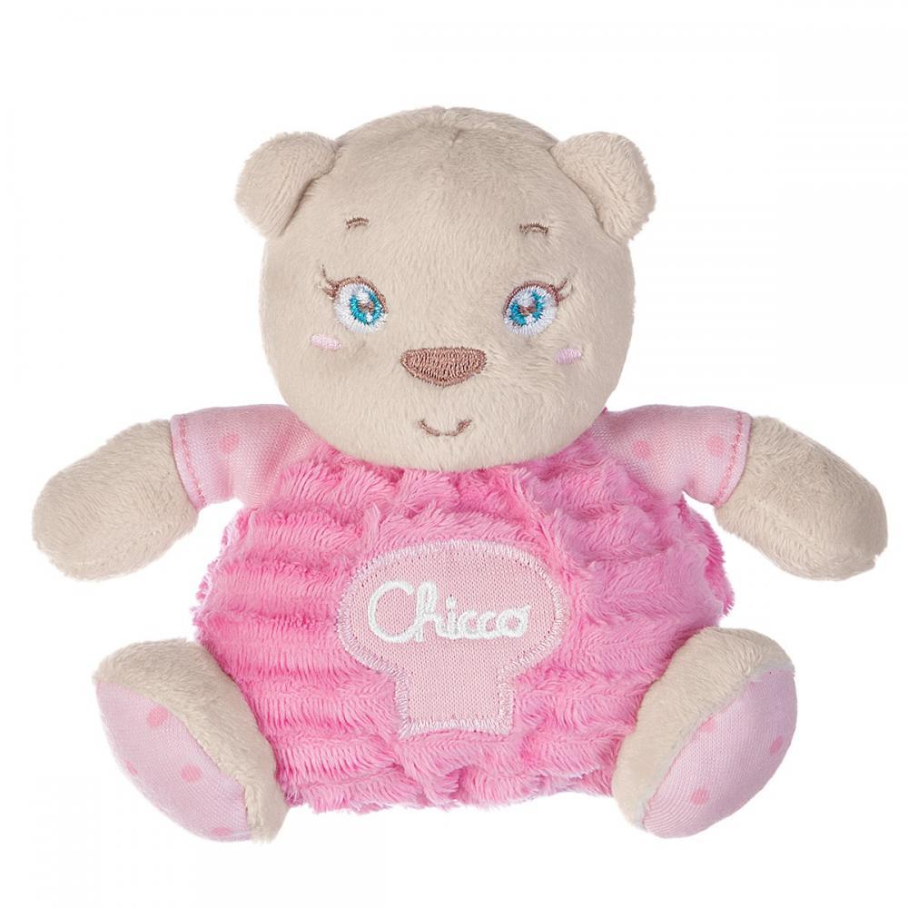 Jucarie plus Chicco Ursulet roz, 0 luni+