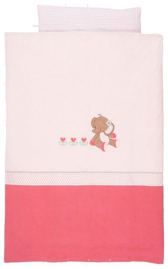 Lenjerie de pat pentru copii Elefantelul Rose 140 x 100 cm
