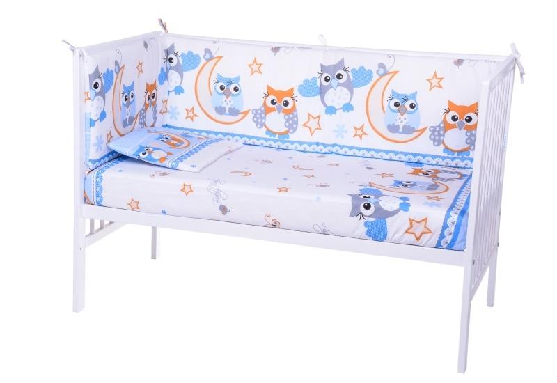 Lenjerie Patut Cu 5 Piese Owls Whiteblue 026