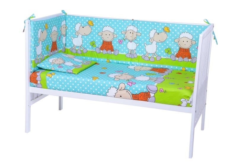 Lenjerie Patut Cu 5 Piese Playful Sheeps Blue 022